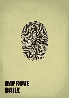 Business Digital Art - Improve Daily Business Quotes Poster by Lab No 4