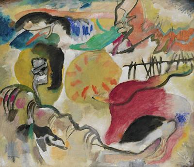 Geometry Painting - Improvisation 27, Garden Of Love II by Wassily Kandinsky