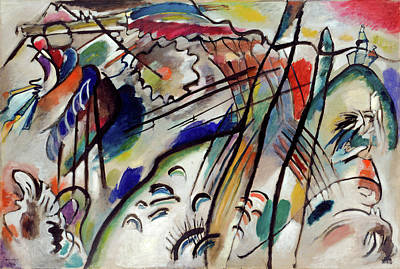 Geometry Painting - Improvisation 28, Second Version by Wassily Kandinsky