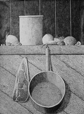 Onion Drawing - Improvisation by A  Robert Malcom