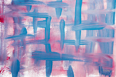Blushing Painting - Impulse Abstract Painting by Christina Rollo