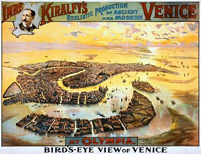Painting - Imre Kiralfys Realistic Production Of Ancient And Modern Venice At Olympia, Performance Poster, 1891 by Vintage Printery