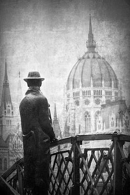 Eastern Europe Photograph - Imre Nagy Budapest Bw by Joan Carroll