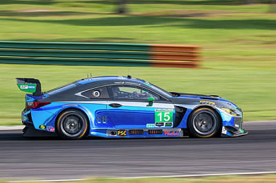Photograph - Imsa Lexus Pruett Hawksworth by Alan Raasch