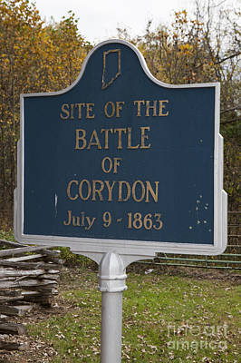 In-31.1963.1 Site Of The Battle Of Corydon July 9, 1863 Art Print by Jason O Watson