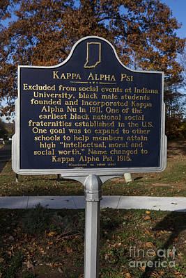 Kappa Alpha Psi Photograph - In-53.2008.1 Kappa Alpha Psi by Jason O Watson