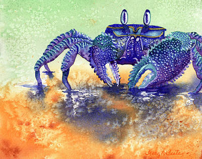 Claw Painting - In A Blue Mood by Tracy L Teeter