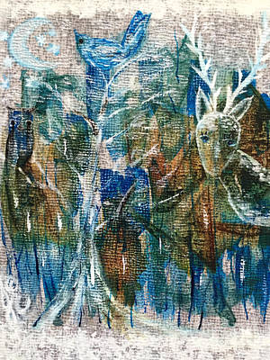 Painting - In A Blue Moon by Julie Engelhardt