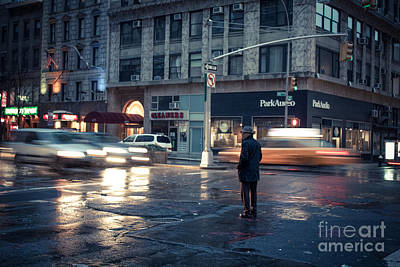 Nyc Taxi Photograph - In A Bubble by John Farnan