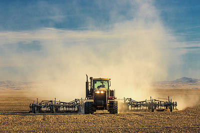 Caterpillar Photograph - In A Cloud Of Dust by Todd Klassy