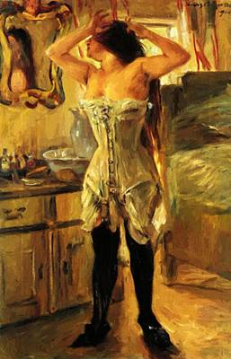 Painting - In A Corset 1910 by Corinth Lovis