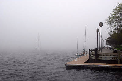 In A Fog In Newburyport Art Print by AnnaJanessa PhotoArt