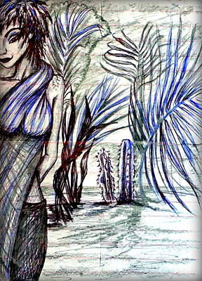 Drawing - In A Garden by Georgia's Art Brush