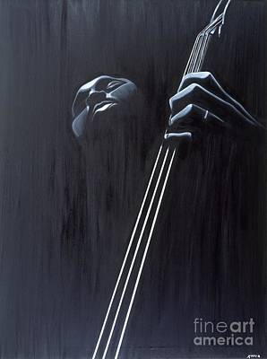 Bassist Painting - In A Groove by Kaaria Mucherera