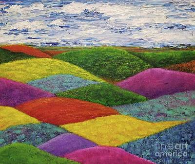 Painting - In A Land Far, Far Away by Jane Chesnut
