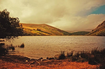 Natures Impressive Mountains Photograph - In A Magic Place In A Mystic Mood. Lough Dan. Wicklow. Ireland by Jenny Rainbow
