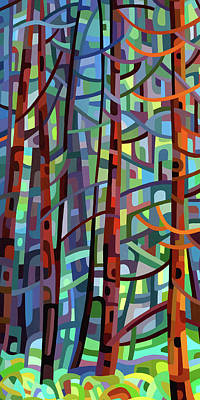 Painting - In A Pine Forest - Crop by Mandy Budan