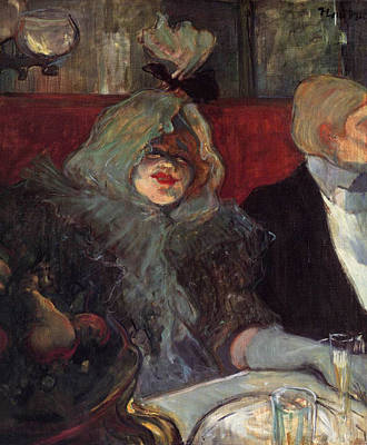 Bar Painting - In A Private Room At The Rat Mort by Henri de Toulouse-Lautrec