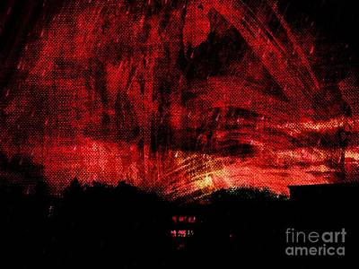 In A Red World Art Print