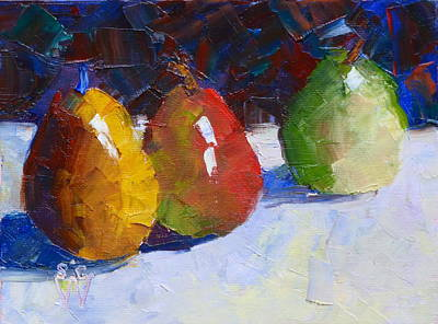 Painting - In A Row by Susan Woodward