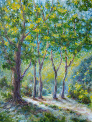 In A Sunny Day On The Forest Path Original by Evgeni Bazelevski