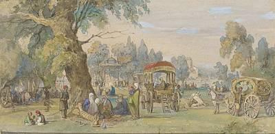 Amedeo Preziosi Painting - in a Turkish Park by Amedeo Preziosi