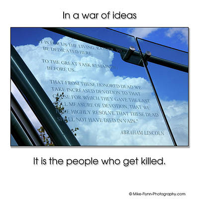 Photograph - In A War Of Ideas by Mike Flynn