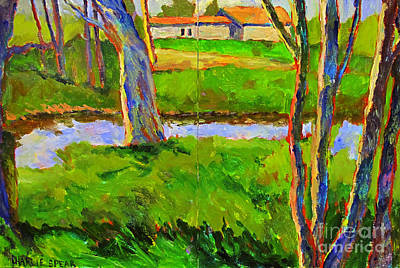 Early Spring Painting - In A Wood With A Creek by Charlie Spear