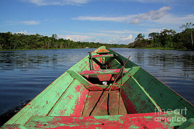 Photograph - In A Wooden Boat On The Amazon by Nareeta Martin