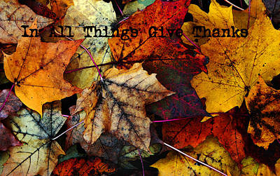 In All Things Give Thanks Art Print