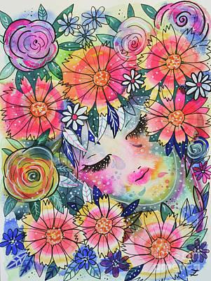 Painting - In Arms Of Nature by Zaira Dzhaubaeva