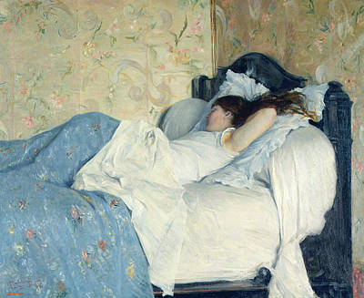 Bed Painting - In Bed by Federigo Zandomeneghi