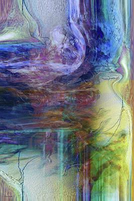 Abstract Movement Digital Art - In Between by Linda Sannuti