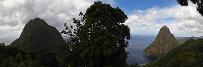 Photograph - In Between The Pitons Panorama Saint Lucia Caribbean by Toby McGuire