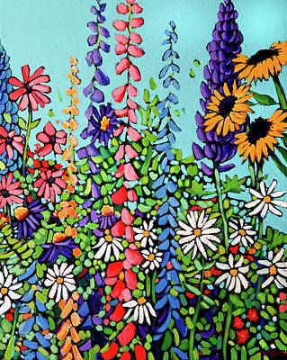 Wall Art - Painting - In Bloom by Alison Newth