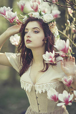 Corset Photograph - In Bloom by Art of Invi