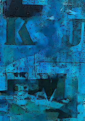 Modern Art Mixed Media - In Blue by KA Davis