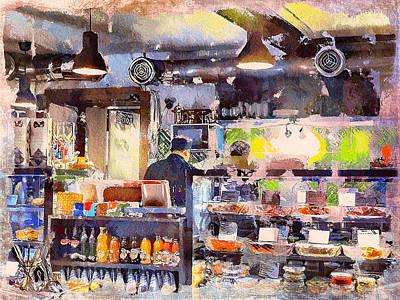 Digital Art - In Cafe by Yury Malkov
