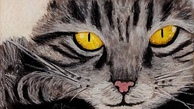Painting - In Cat's Eyes by Anastasiya Malakhova
