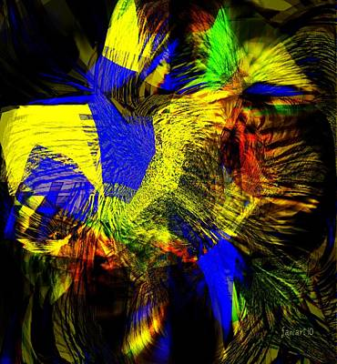 In Chaos - Yet Here Is My Praise Art Print by Fania Simon