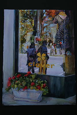 Store Fronts Painting - In Clover by Carolyn Epperly
