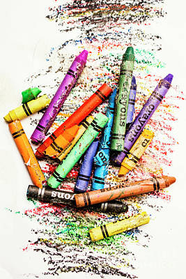 In Colours Of Broken Crayons Art Print