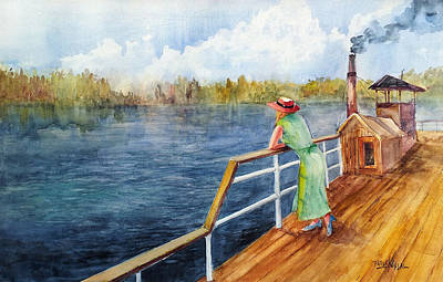Painting - In Crossing The River by Faruk Koksal