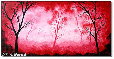 Pai Painting - In Deep Forests by Klaudia Warwel