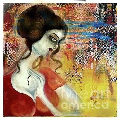 Syeda Ishrat Painting - In Deep Thinking by Syeda Ishrat