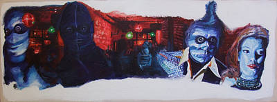 Berlin Night Painting - In Der Disko Tanzen by LB Zaftig