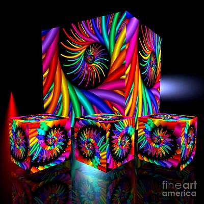 Abstract Digital Art - In Different Colors Thrown -2- by Issabild -