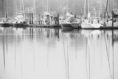 Boats In Reflecting Water Photograph - In Dock by Karol Livote