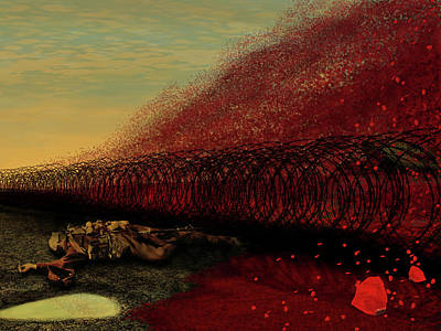 Digital Art - In Flanders Fields by Nigel Follett