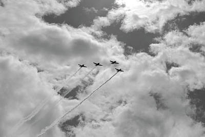 Photograph - in Formation - Vintage Planes by Jane Eleanor Nicholas